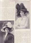 Victorian Theatre Magazine Ad Ladies Large Hats 1910
