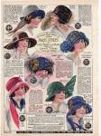 Vintage Millinery Ad 1923 Paris Style Color Ad Two Sides