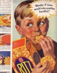 Vintage Ad Ritz Crackers Boy 1937 Ladies Home Journal