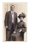 Victorian Lady And Man Real Photo