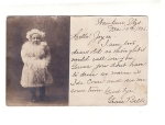 Vintage Postcard Little Girl With Fur Real Photo