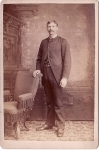 Victorian Cabinet Card Man With Victorian Fringe Chair