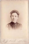 Victorian Cabinet Card Women With Button Front Dress