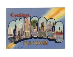 Big Letter Small Size Chicago Card Curt Tiech