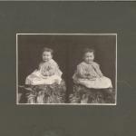 Vintage Photo Little Girl On Rug