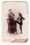 Vintage Victorian Cabinet Actresses One Dressed Like A Boy