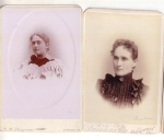 Victorian Photo Cabinet Cards Two Women