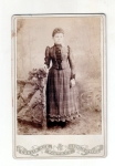 Victorian Cabinet Card Young Miss In Plaid Dress