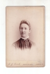 Victorian Cabinet Card Victorian Lady With Jewelry And Buttons With Lace Collar