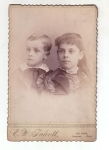 Victorian Brother And Sister Cabinet Card