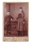Victorian Little Girl With Long Hair And Boy