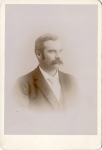 Vintage Cabinet Card Man With Mustache
