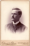 Vintage Cabinet Card Man With Glasses And Moustache