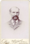 Vintage Cabinet Card Man With Large Moustache