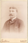 Vintage Cabinet Card Man With Handlebar Moustache