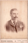 Vintage Cabinet Card Man In Suit With Watch Fob And Hanky Moustache