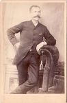 Vintage Cabinet Card Well Dressed Man With Mustache And Watch Fob