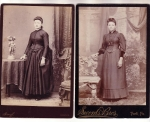 Victorian Cabinet Cards Women One With Bussle