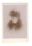Victorian Lady With Pretty Hat And Fur Cape, Good Condition