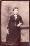 Vintage Cabinet Card Young Girl With Button Front Dress
