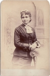 Vintage Cabinet Card Well Dressed Lady With Jewelry