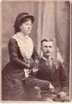 Vintage Cabinet Card Beautifully Dressed Lady And Man