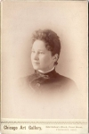 Vintage Cabinet Card Women With Victorian Hand Pin On Collar