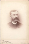 Vintage Cabinet Card Photo Man With Large Mustache