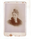 Vintage Cabinet Card Photo Lady With Jewelry And Feather Dated 1895