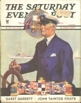 Vintage Ad Captain At Realm 1934 Saturday Evening Post Cover
