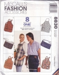 Vitnage Mc Call's Fashion Acessories 8 Patterns Aprons