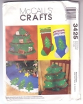 Pattern Christmas Crafts, Card Holder, Stocking, Pillow And Tree Skirt
