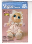 Vintage Vogue Pattern Muppet Babies Jim Henson's Baby Piggy And Clothes