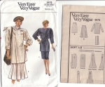 Very Easy Very Vogue Misses Tunic & Skirt Sz 14-16-18 Pattern