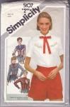 Vintage Simplictiy Ladies Western Shirt Pattern