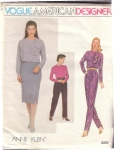 Vintage Ladies Pattern Vogue Anne Klein Size 12