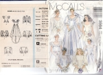 Vintage Sewing Patterns-brides,bridesmaids Mc Call's 12-14