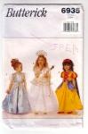 Vintage Butterick 2-3-4 Princess Dress Patterns , Snow White