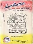 Vintage Aunt Martha's Hot Iron Transfers Flowers & Charm 3737