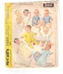 Vintage Mc Call's Layette Newborn To 3mts