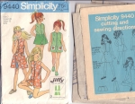 Vintage Girls Jiffy Sewing Pattern Easy Pieces 1970s Size 7