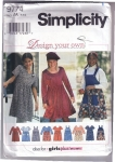 Vintage Simplicity Design Your Own Dress 7-14 And Also Plus Size 8 1/2-16-1/2