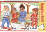 Vintage Kids Pattern Busybodies Sizes 2-3-4 Pant Outfits And Dresses