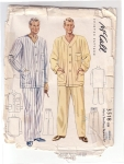 Mens Two Piece Pajamas Size Medium 38-40