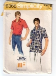 Vintage Men's Shirt Jiffy From The 1970s Size Medium 38-40