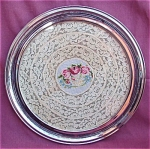 Farberware Chrome Lace Embroidered Tray
