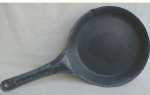 Mottled Gray Graniteware Large Skillet