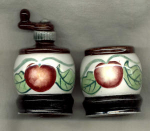 Salt And Pepper Shakers With Apples.