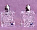 Hand Cut Crystal Salt And Pepper Shakers