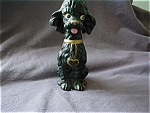 Black Poodle Figurine